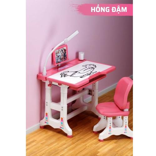 Bộ bàn ghế cao cấp chống gù chống cận bàn học thông minh cho học sinh điều chỉnh độ cao 50x70 HK500