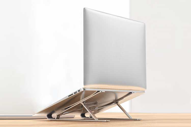 Giá Đỡ Laptop Hợp Kim Nhôm Cao Cấp Có Thể Gấp Gọn - Đế Tản Nhiệt Laptop - Macbook, Máy Tính Xách Tay - 07 Vị Trí Điều Chỉnh Góc Độ - Hàng Chính Hãng - VinBuy