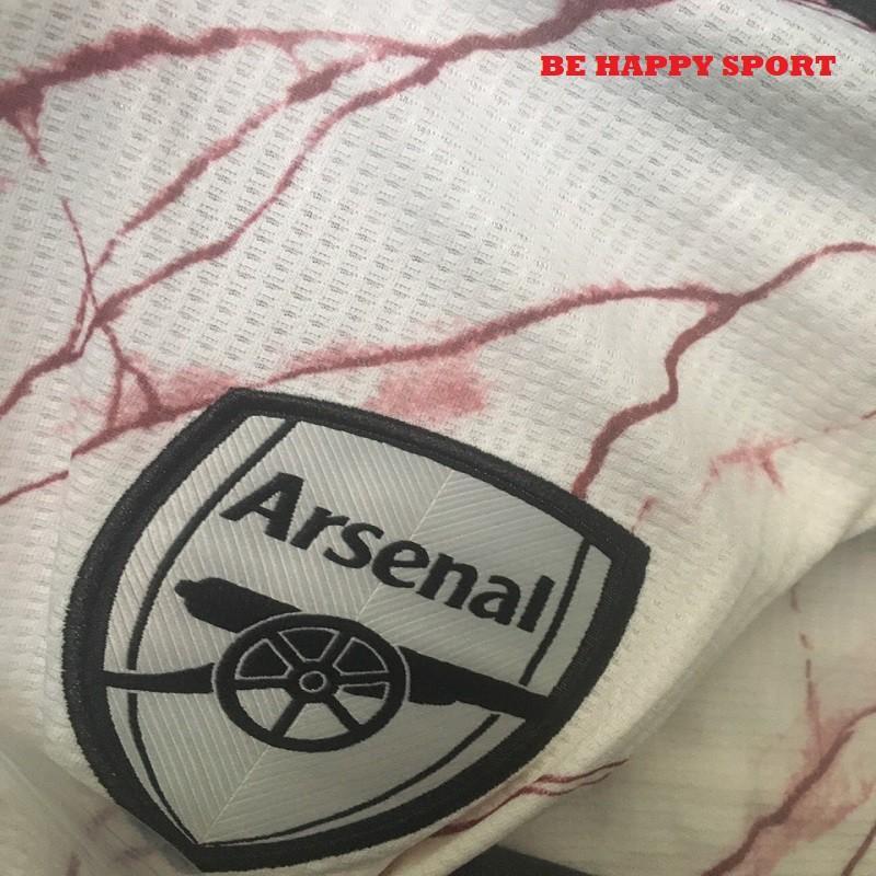 Áo Đá Bóng Arsenal Màu Trắng Tia Chớp Vải Gai Thái Xịn Xò 2021 - Quần Áo Thể Thao Nam Đẹp