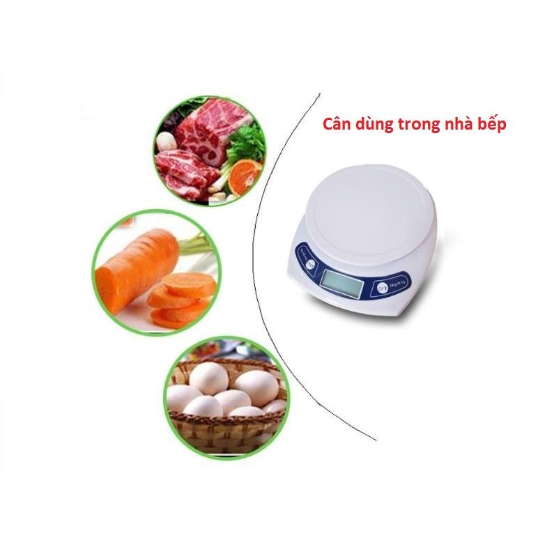 Cân điện tử nhà bếp 3kg độ chính xác cao ( Tặng kèm pin )