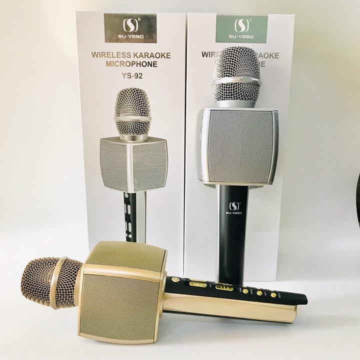 Micro Karaoke Bluetooth SU-YOSD YS-92 màu Vàng - Hàng nhập khẩu