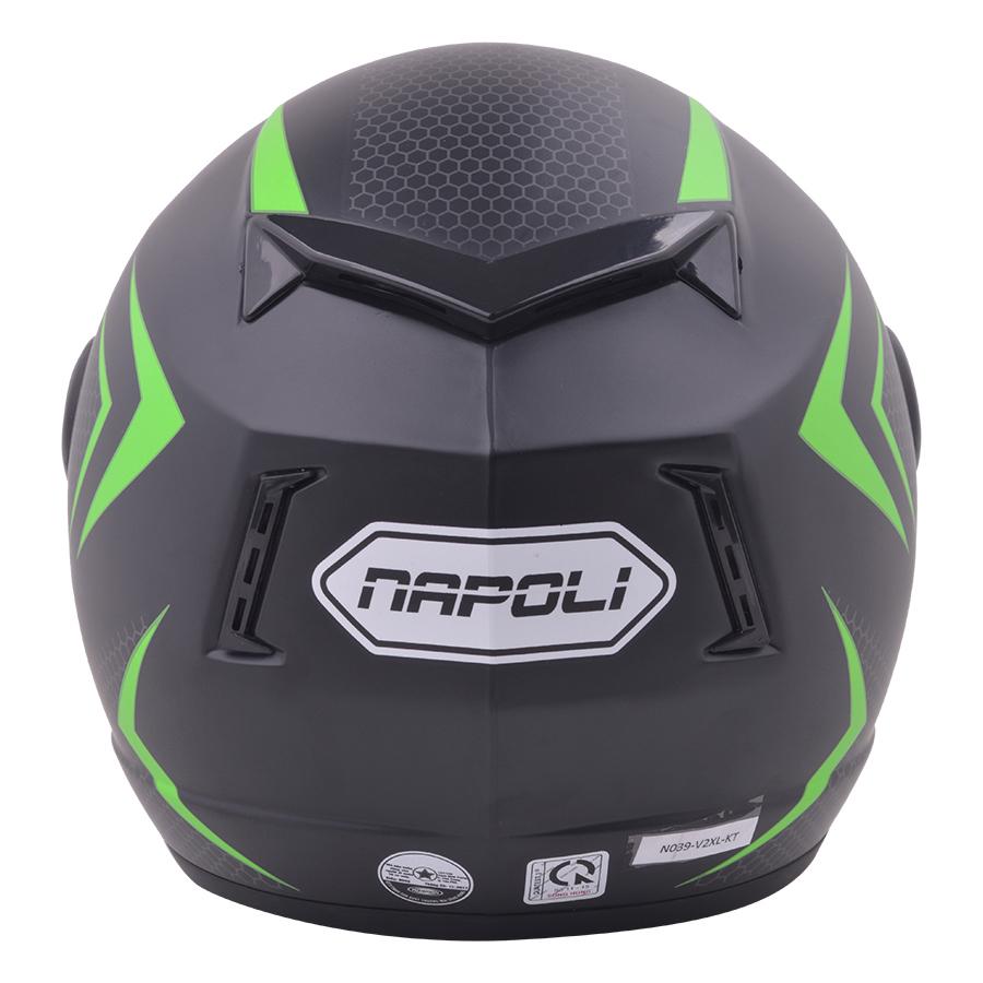 Mũ Bảo Hiểm Kính Trong Tem V2 Napoli N039-V2XL-KT - Xanh Lá