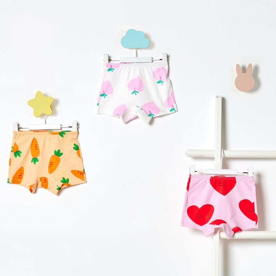 Set 3 quần chip đùi cho bé gái U6007 - Unifriend Hàn Quốc, Cotton Organic