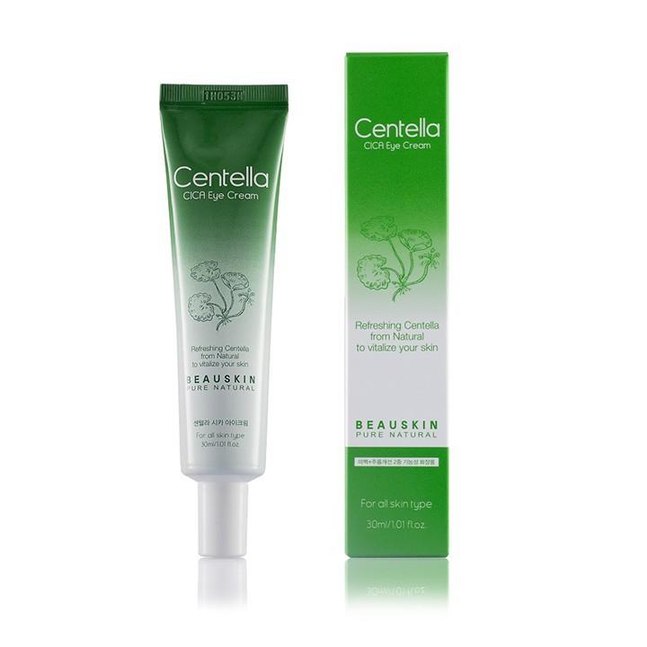 Kem dưỡng mắt sáng da giảm thâm bọng mắt giảm nếp nhăn phục hồi lão hóa da vùng mắt Beauskin Centella CICA Eye Cream, HQ 30ml