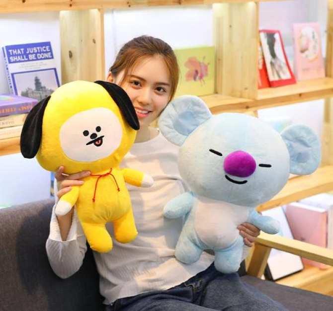 Gấu bông ,gấu BT21- BTS gấu bông CHIMMY - Jimin (vàng)