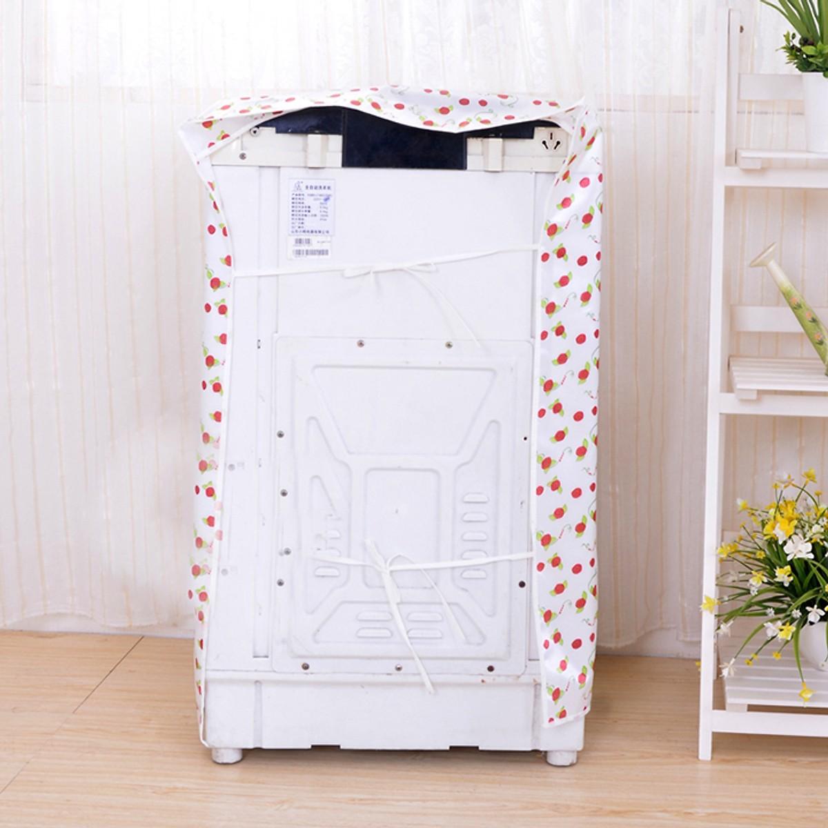Vỏ bọc bảo vệ máy giặt cửa trên - áo trùm máy giặt lồng đứng loại to dày đẹp Vegas12
