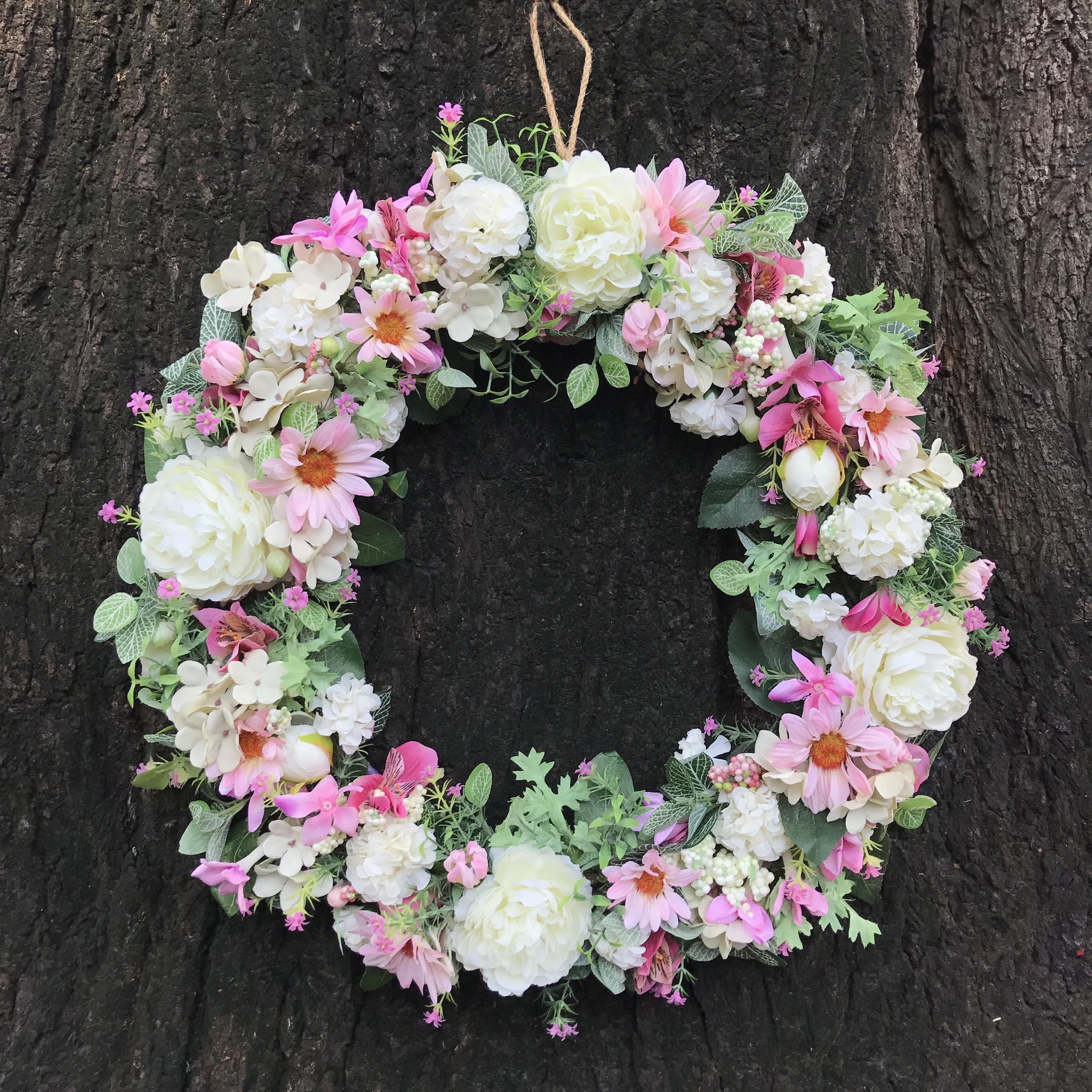 Vòng Hoa Vải Handmade V16090