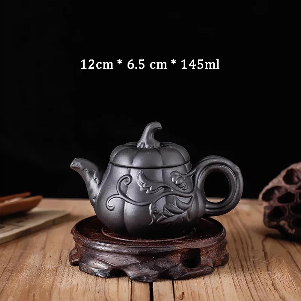 Ấm trà tử sa Nghi Hưng họa tiết phụ kiện bàn trà trà đạo