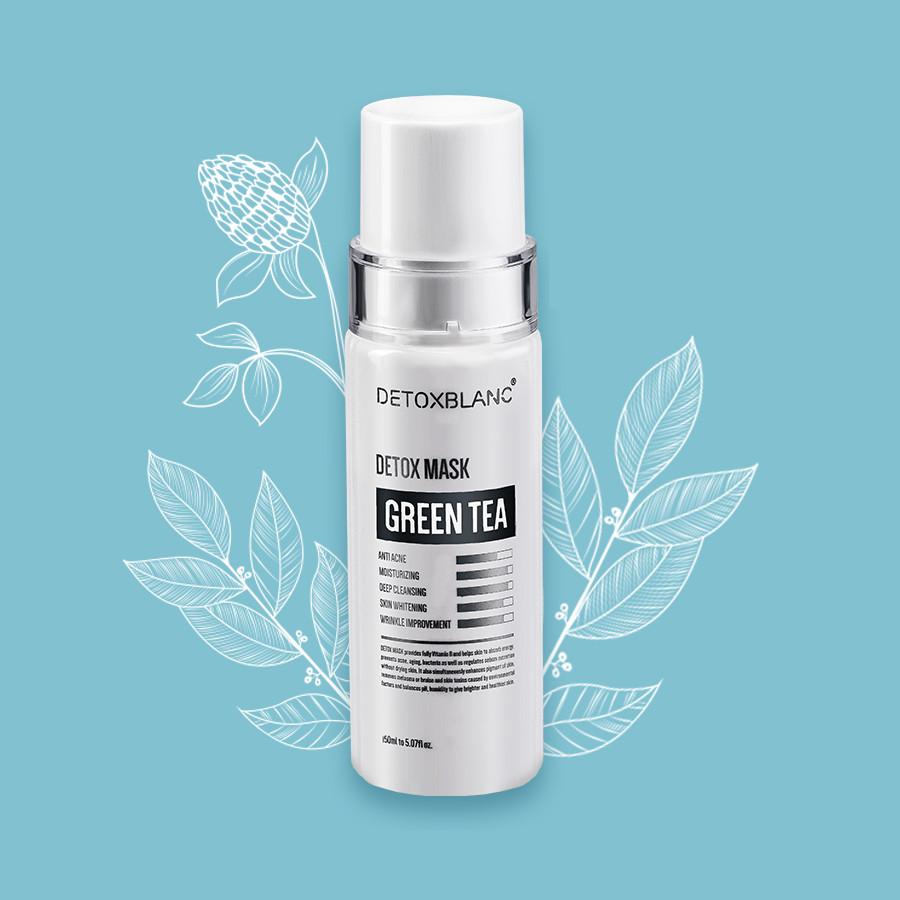 Sữa Rửa Mặt Detox BlanC Thải Độc Sủi Bọt Trắng Da Detox Mask (Mẫu mới) + Tặng Kèm hoa tai ngọc trai cực xinh