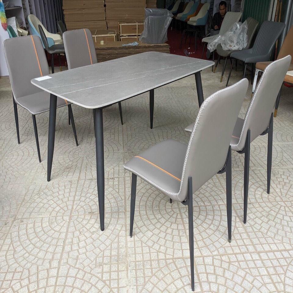 Bộ bàn ăn mặt đá kèm 4 ghế