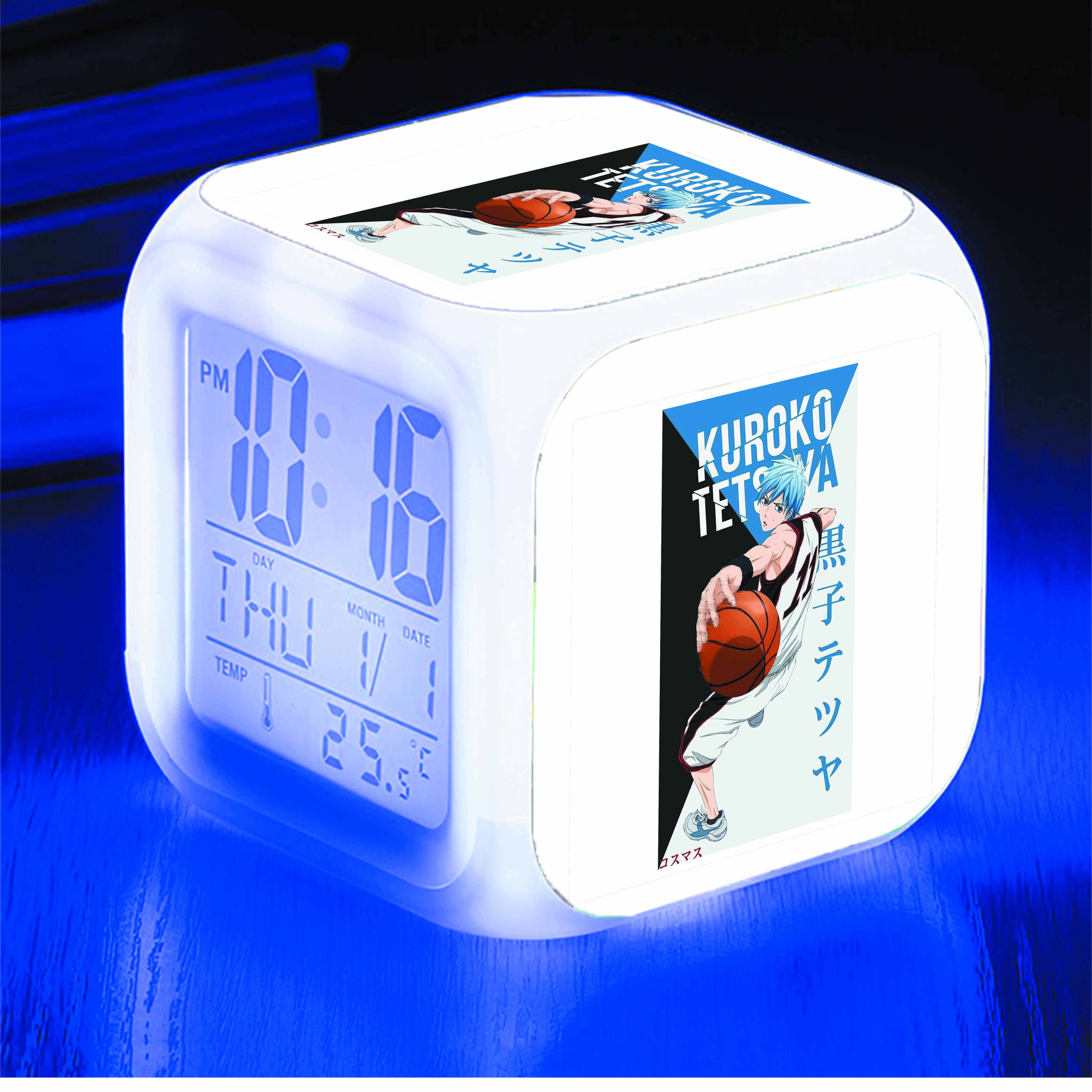 Đồng hồ báo thức để bàn IN HÌNH Kuroko no Basket - Tuyển thủ vô hình anime