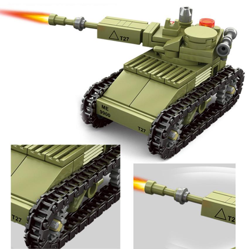 Mô hình lắp ghép bộ binh và xe tăng bọc thép 163 chi tiết - đồ chơi cho trẻ trên 6 tuổi