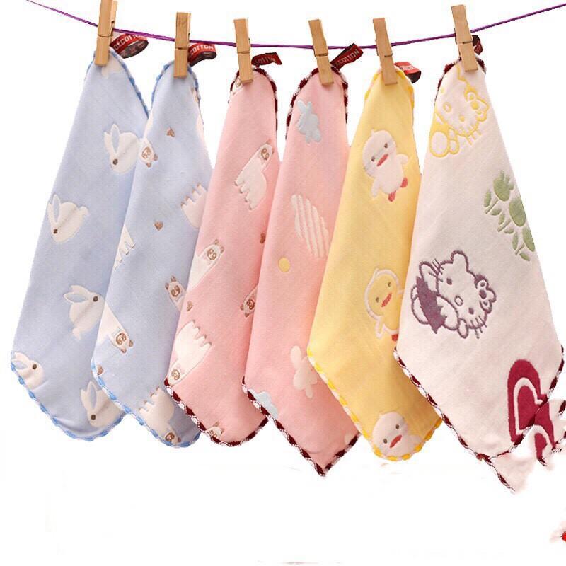 Set 5 khăn mặt Lee lee kids 4 lớp mềm mịn vô cùng cho bé
