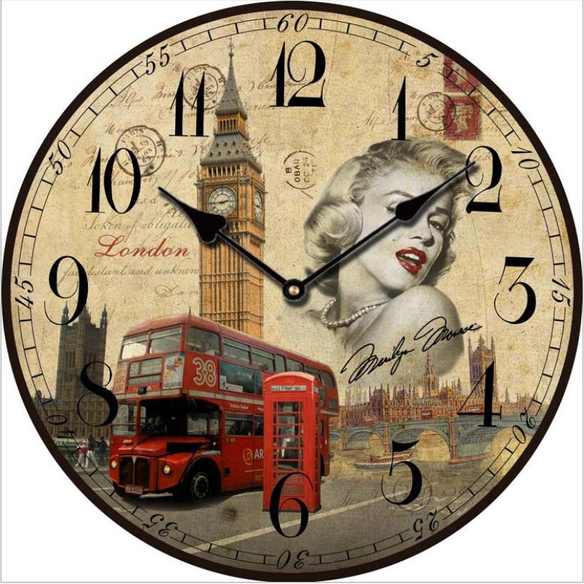 Đồng hồ treo tường Vintage Phong cách Châu Âu hình tròn DH10 đồng hồ Big Ben
