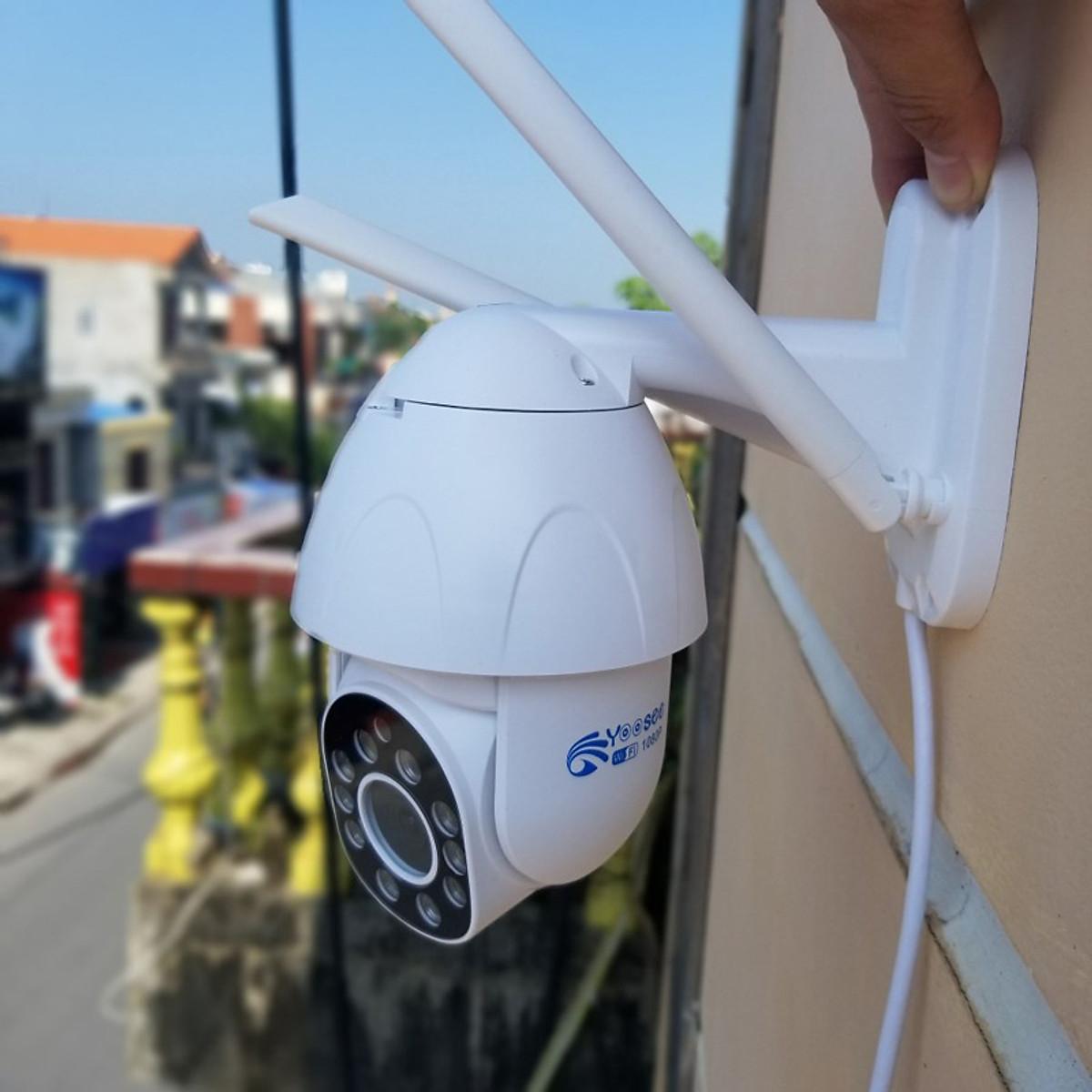 Camera IP không dây ngoài trời Yoosee PTZ 2 Râu FullHD 1080P đàm thoại 2 chiều, xoay 360 phát hiện chuyển động 10 đèn LED Flash và hồng ngoại - Phiên bản 2020 Hàng Nhập Khẩu