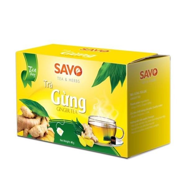 Trà SAVO Gừng Ginger Tea - Hộp 20 Gói x 2g