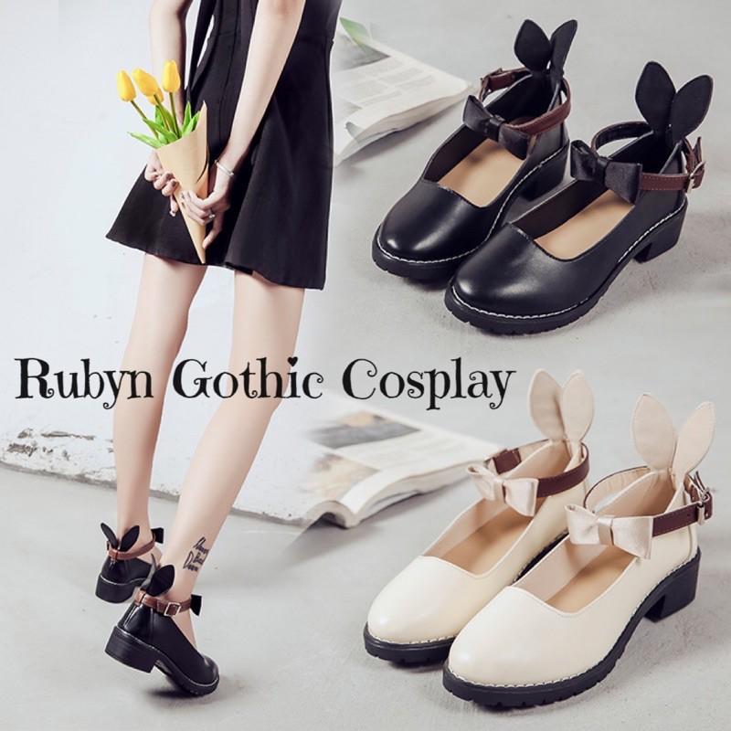 Giày Búp Bê Lolita Nơ Thỏ phong cách cosplay ( Size 35 - 39 )