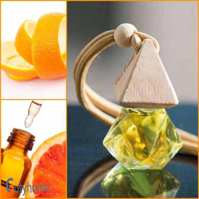 Tinh dầu treo xe ô tô hương cam hương treo phòng ngủ, treo nhà vệ sinh, treo tủ quần áo, xịt thơm xe, khử mùi xe mới