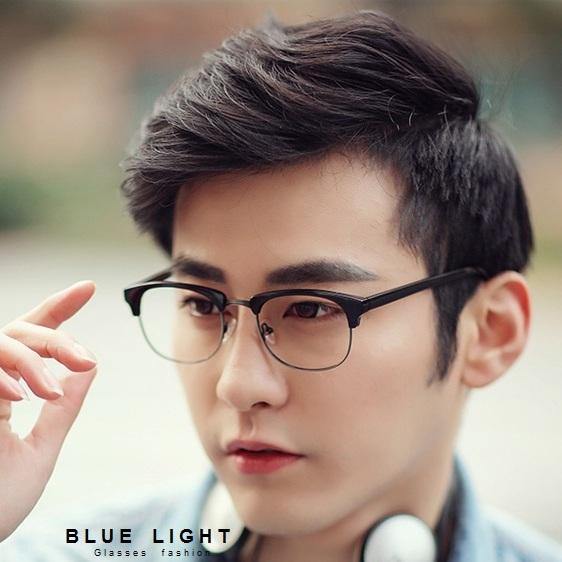 Kính Giả Cận, Gọng Kính Cận Nam Nữ Tròn Đen Clubmaster Không Độ Hàn Quốc - BLUE LIGHT SHOP