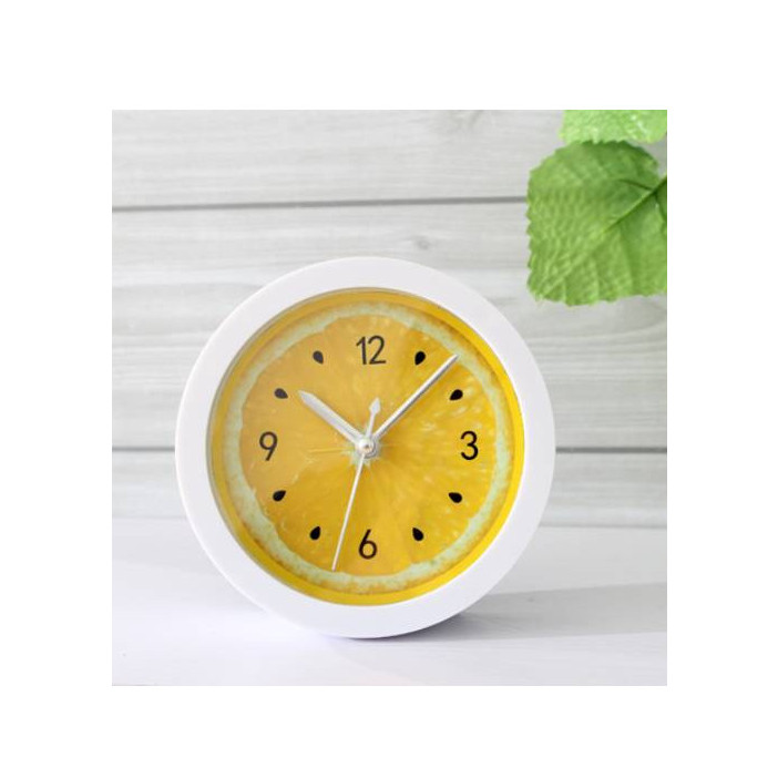 Đồng hồ báo thức để bàn trái cam mini 6cm