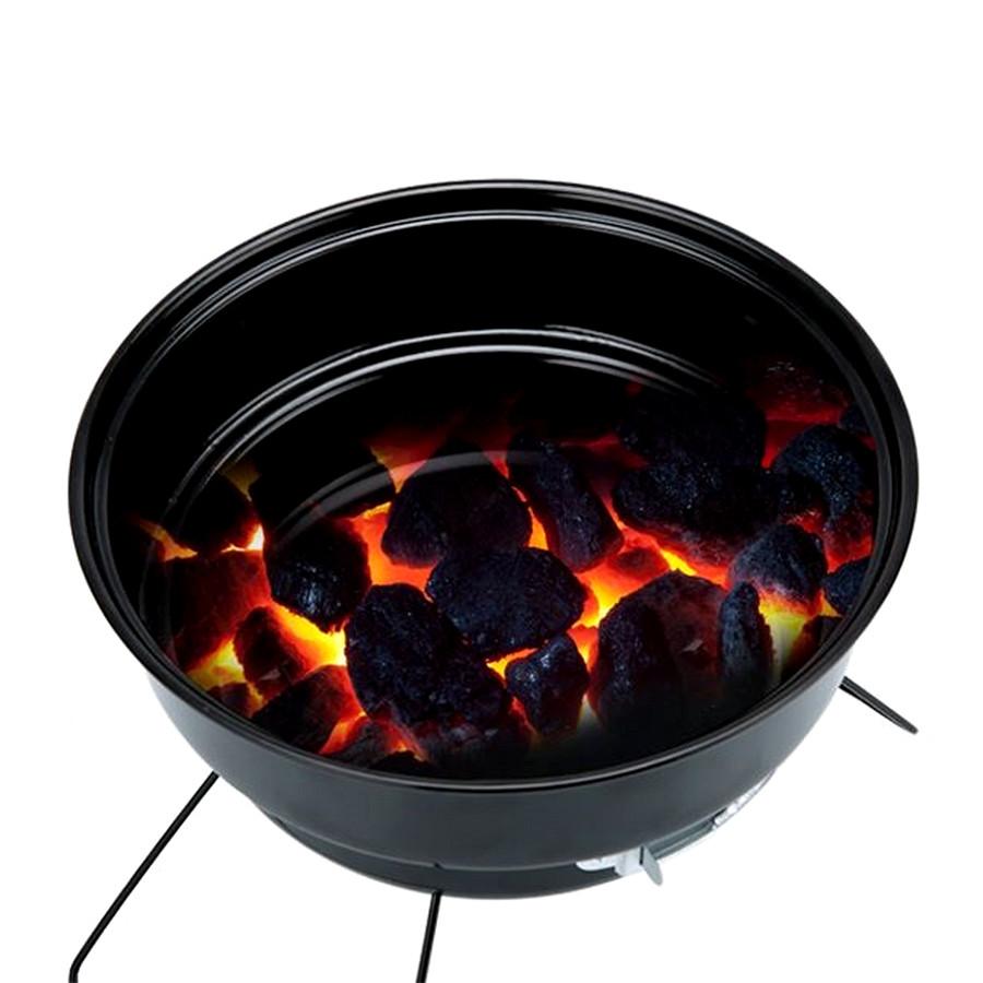 Bếp nướng than hoa hạn chế khói hình tròn (đen)