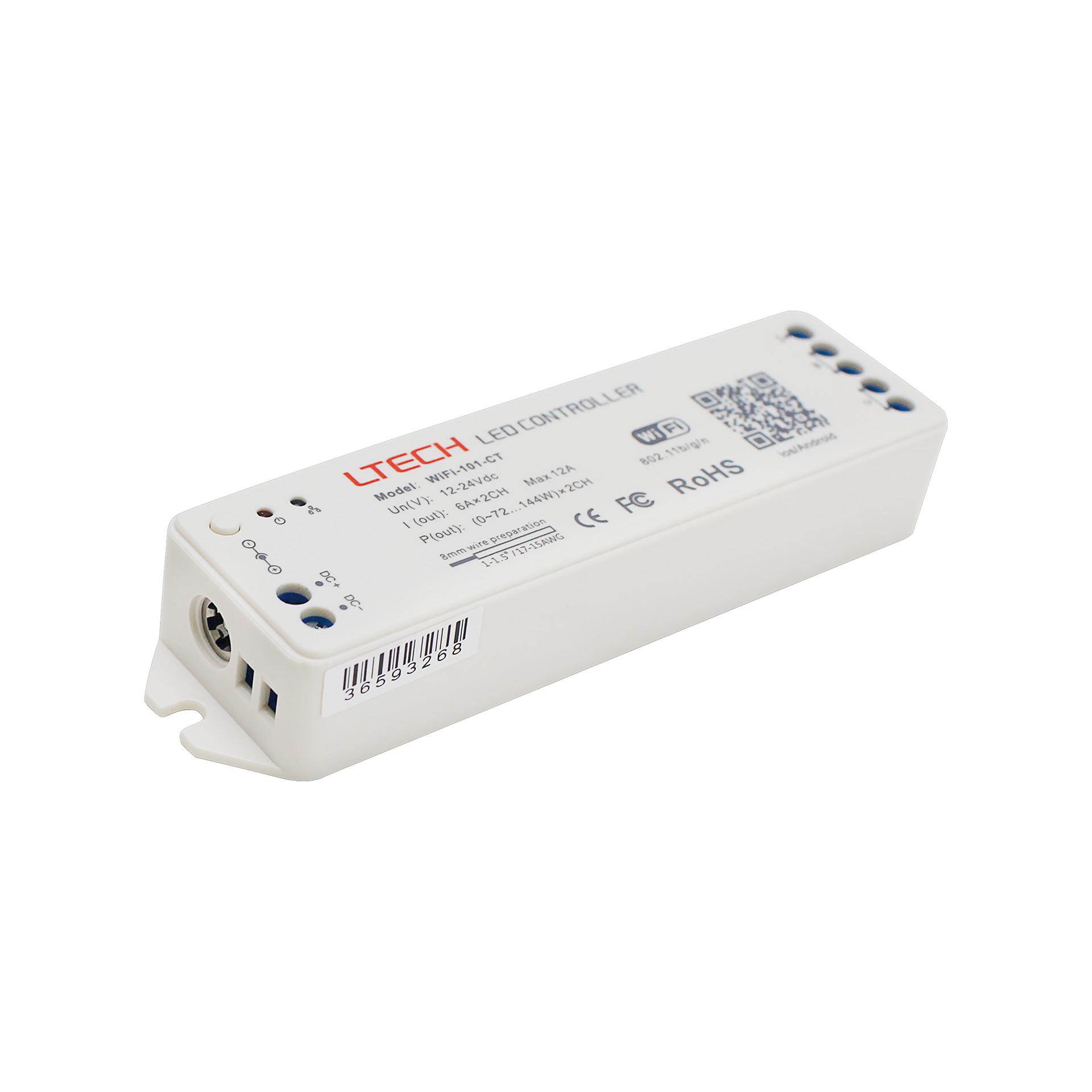 Bộ Điều Khiển Đèn Led Ltech Wifi-101-CT Điều Chỉnh Màu Sắc Ánh Sáng, LED Dimmer Controller - Hàng Nhập Khẩu