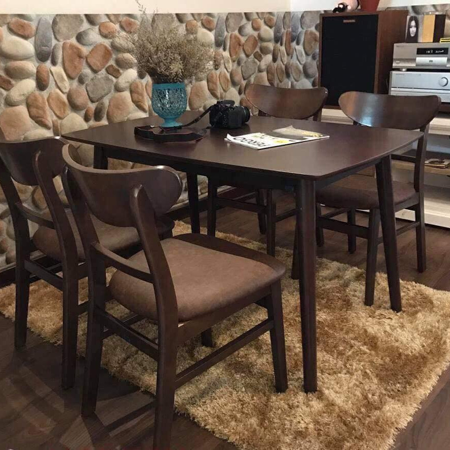 Bộ bàn ăn MG nâu 4 ghế