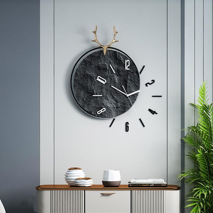 Đồng hồ treo tường kim trôi phong cách hiện đại 30*63cm, trang trí treo tường phòng khách DH1011