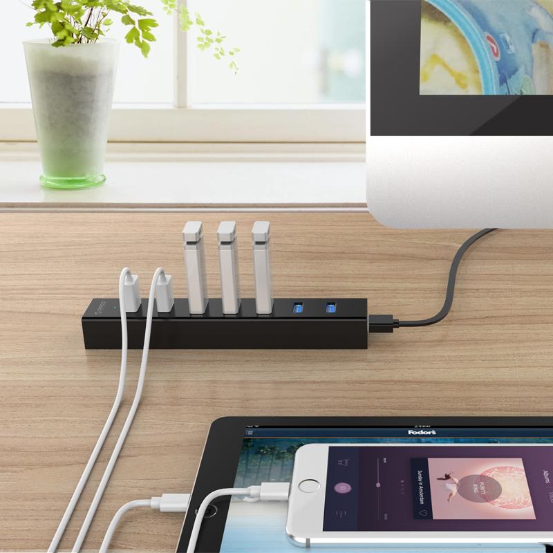 Hub chia 7 cổng chuẩn USB 3.0 Orico H7013-U3 - Hàng nhập khẩu
