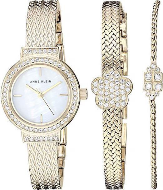 Bộ đồng hồ và vòng tay ANNE KLEIN 3432GBST