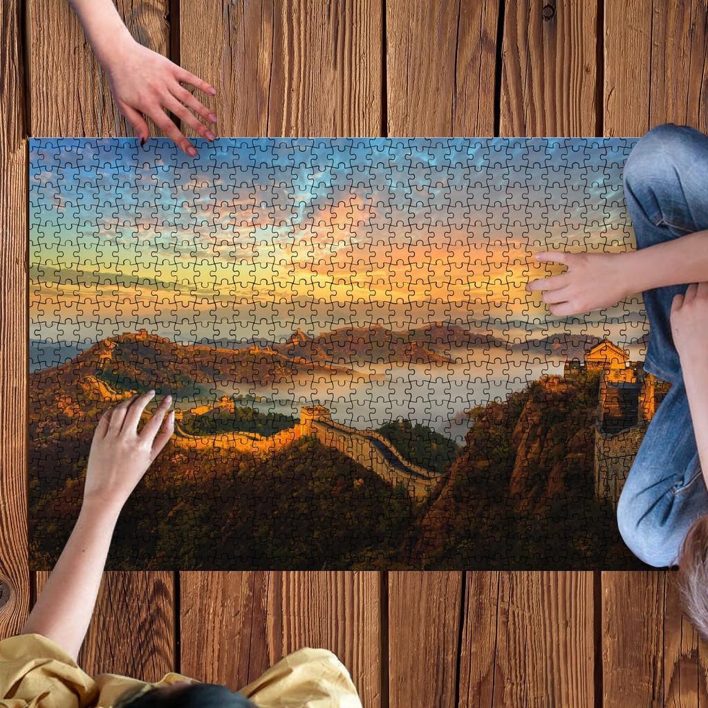 (Chọn 1 trong 20 mẫu) Tranh ghép hình 925 mảnh ghép chủ đề Vạn lý trường Thành - Great wall of China, Nhận in tranh ghép