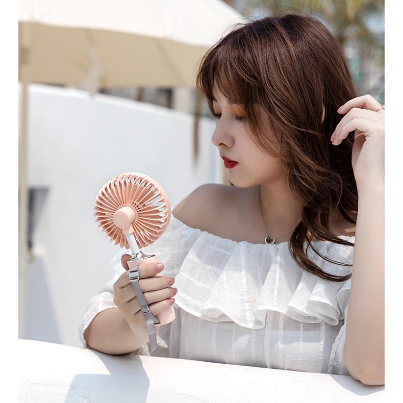 Quạt cầm tay mini Rely - Hồng Pastel