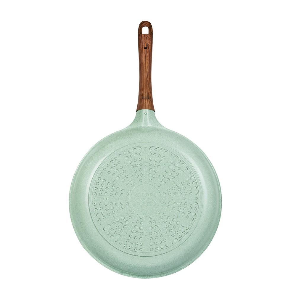 Chảo đúc 7 lớp chống dính đáy từ dùng trên mọi loại bếp Greencook GCP06-26 size 26cm, sâu 6.5cm, hàng y hình-Hàng chính hãng