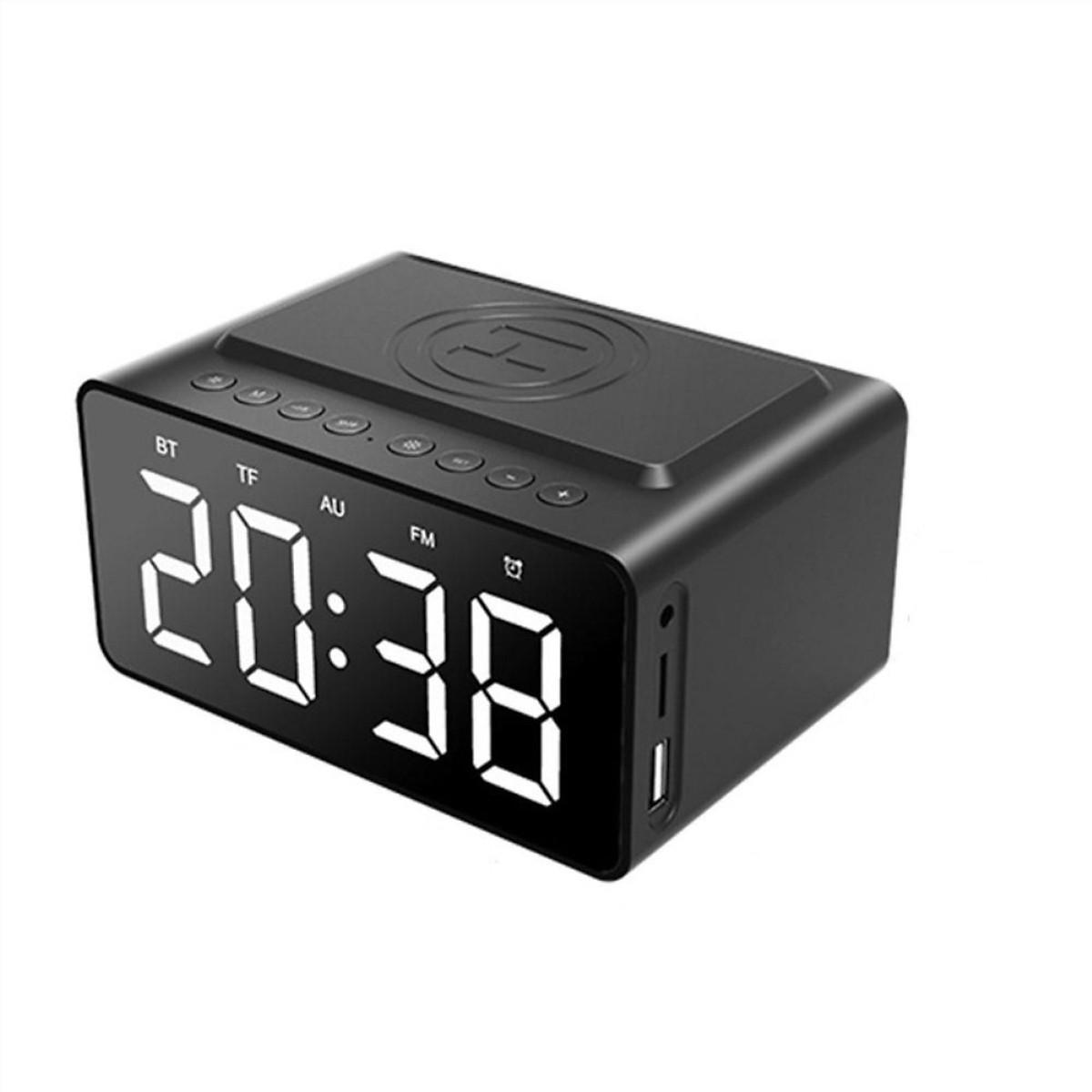 Loa Bluetooth Mặt Gương BT508 | tích hợp đồng hồ báo thức | sạc không dây | màn hình Led - Hàng Chính Hãng