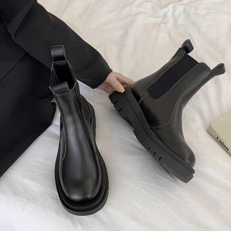 {ỎRDER-M37} BOOTS Nu không dây không khoá - co dãn boot ulzzang ullzang BOOT ĐẾ CHIẾN BINH