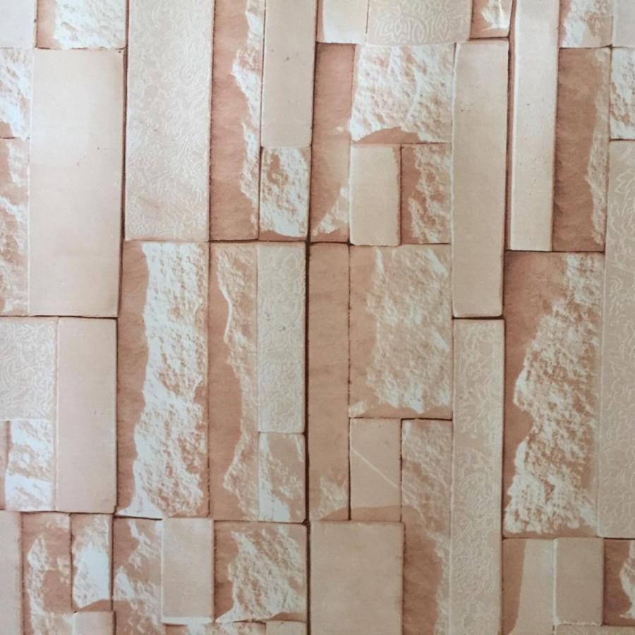 Giấy decal cuộn đá 3d 5m - màu NÂU dt62DT60 (45x500cm)