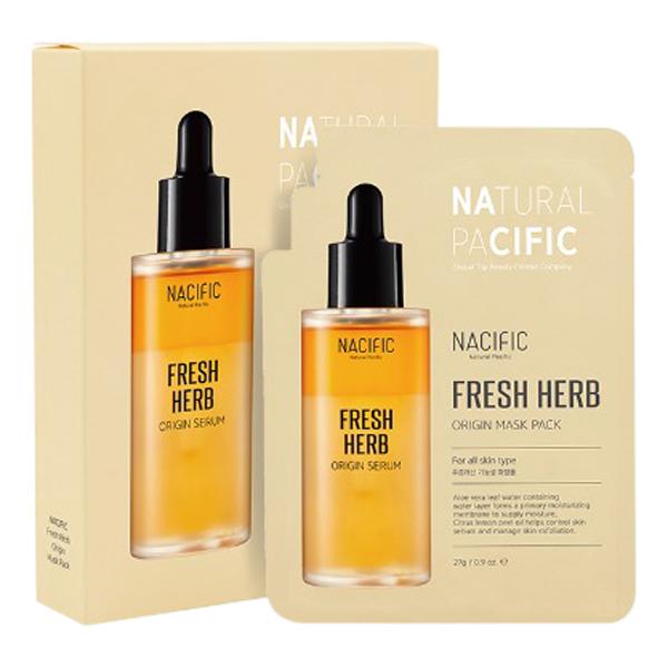 Mặt Nạ NACIFIC Fresh Herb Origin Mask Pack(10ea)   Tiki