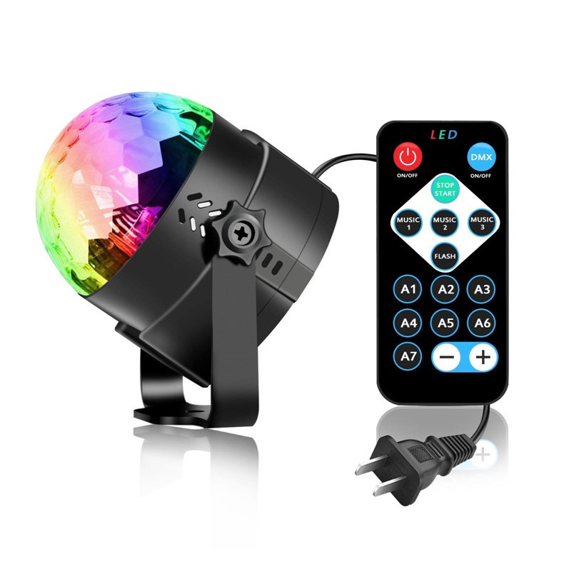 Đèn nháy led pha lê mini RGB giá rẻ,dải led chuyển động đa màu,đa hình,cảm biến nhạc có remote