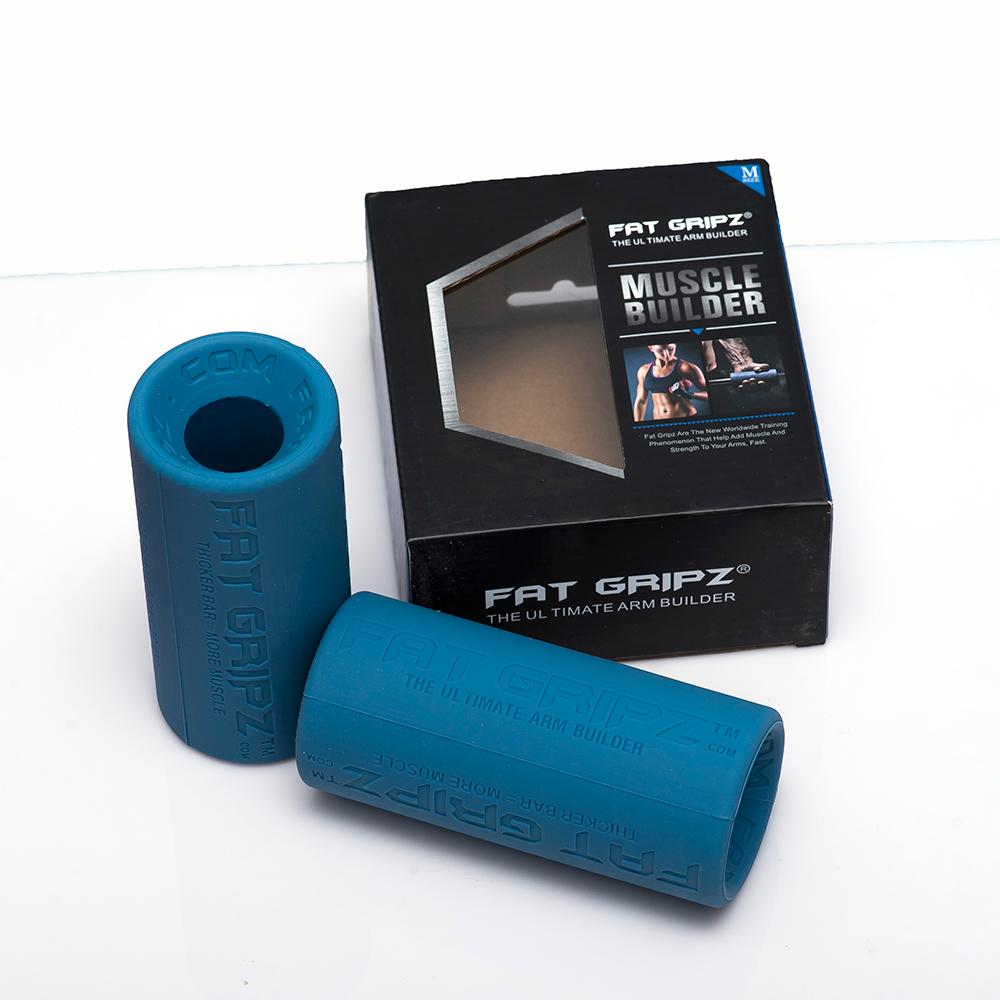 Fat Gripz tay nắm cao su bọc tạ hỗ trợ tập tay, tập Gym (1 Đôi)