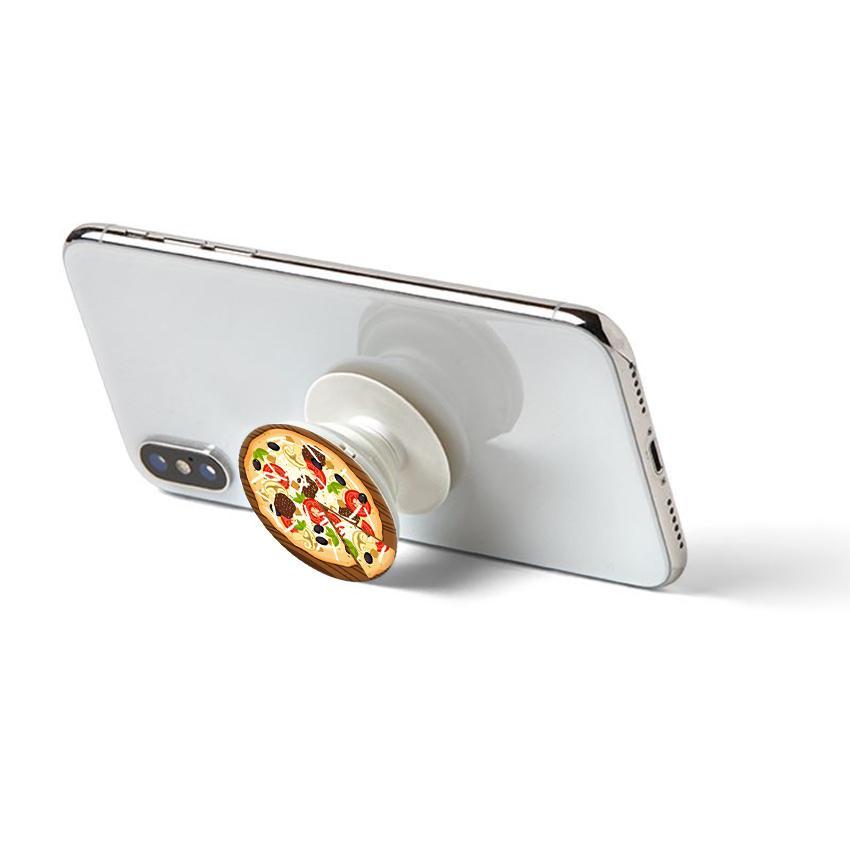 Gía đỡ điện thoại đa năng, tiện lợi - Popsocket - In hình PIZZA - Hàng Chính Hãng