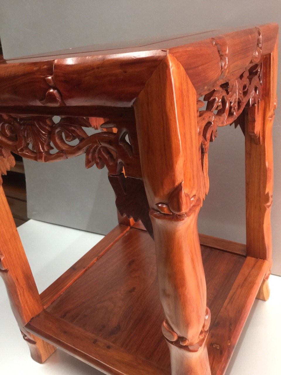 Đôn gỗ hương, vân gỗ đẹp mẫu đôn trúc , đôn kê đồ phong thuỷ, đôn kê tượng