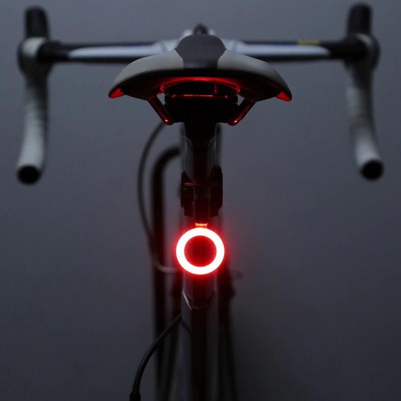 Đèn LED Hậu Gắn Phía Sau Xe Đạp Tròn Chống Nước Sạc USB Với 5 Chế Độ Cảnh Báo An Toàn Đạp Xe Ban Đêm Mai Lee - Hàng chính hãng