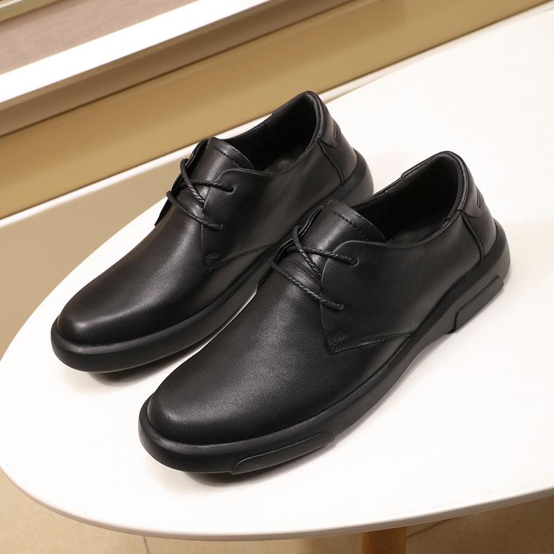 Giày công sở, giày tây big size cỡ lớn cho nam chân to bè, giày da bò loại tốt, đầu tròn, đế bằng không gót - GT099