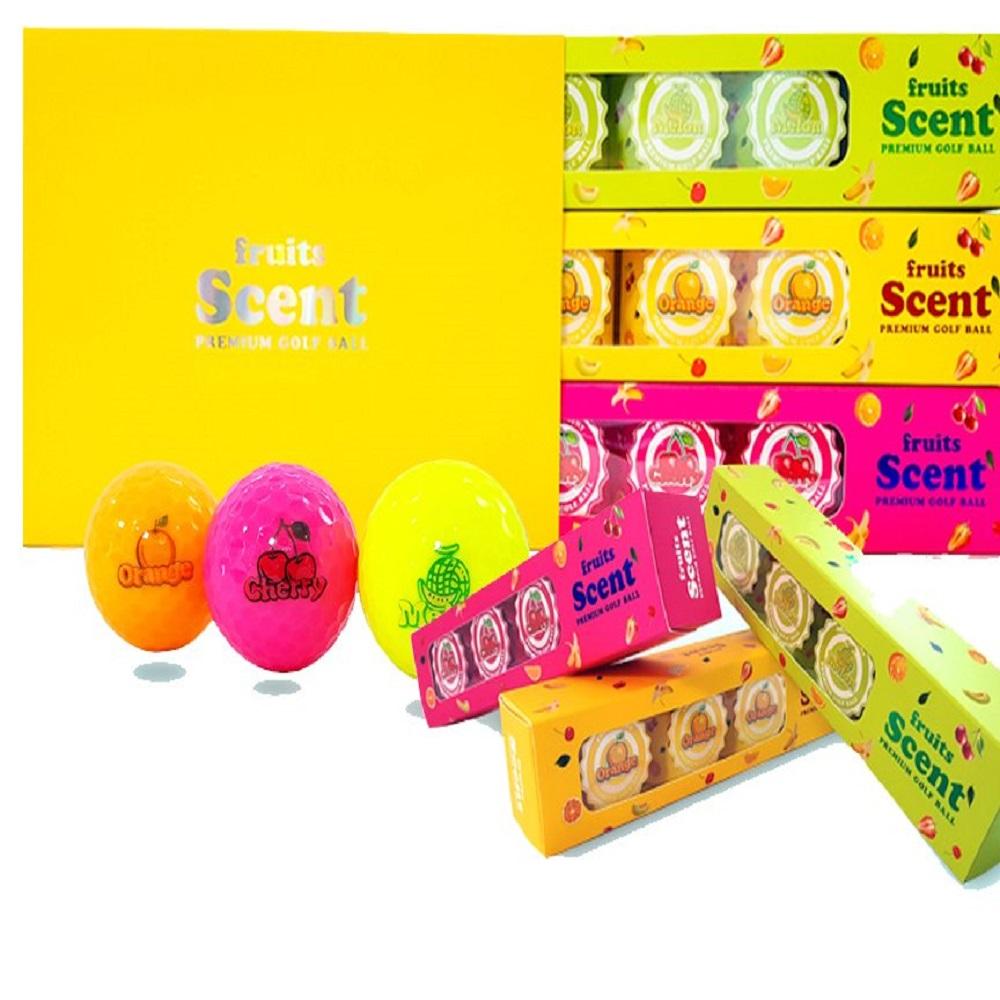 Bóng golf Thơm Mùi Trái Cây thương hệu TAMIYD cao cấp Hàn Quốc (Hộp 12 quả) -  TAMIYD Fruits Scent Premium Golf Ball (Melon- Cherry- Orange)