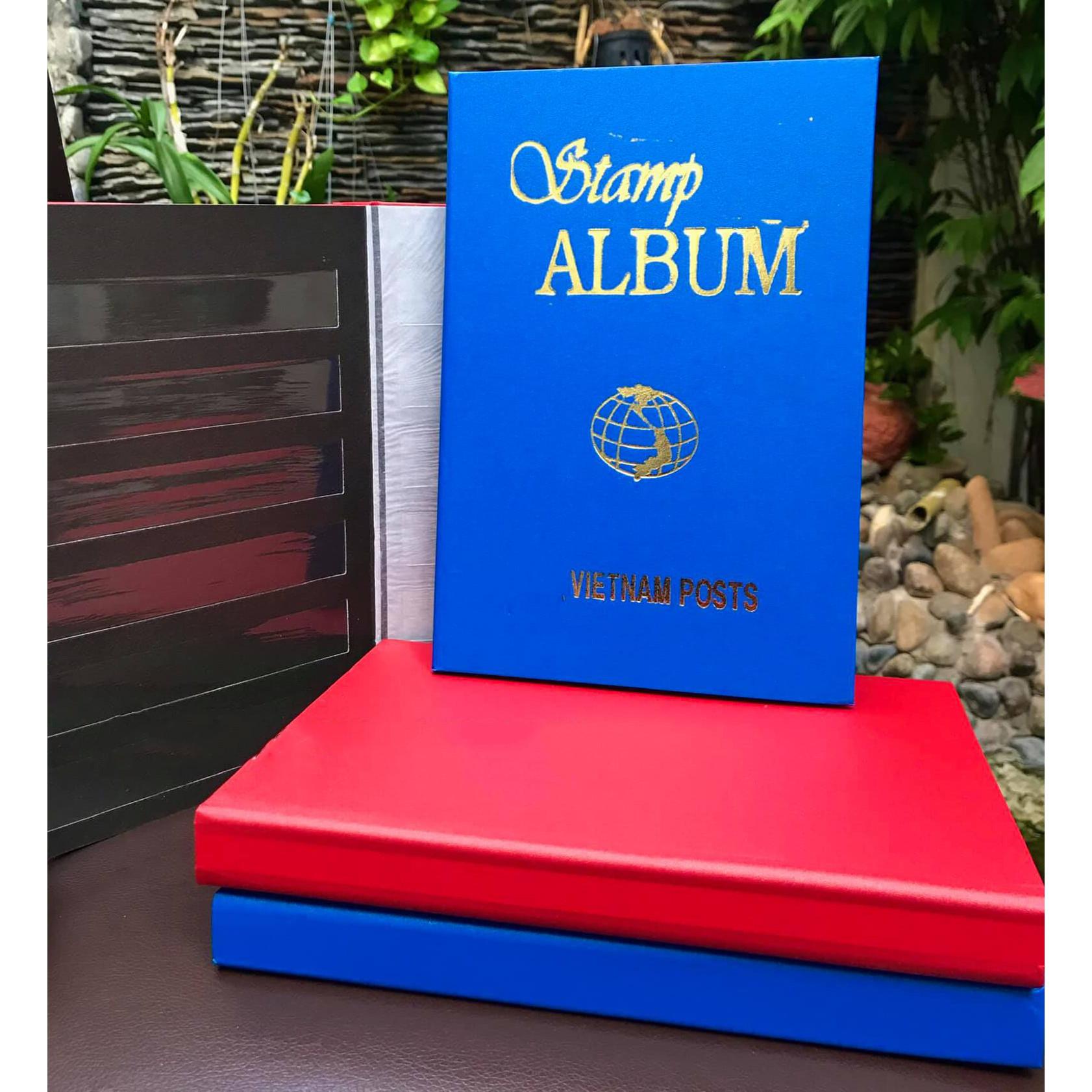 Quyển Album Đựng Tem Sưu Tầm 500 con của Việt Nam