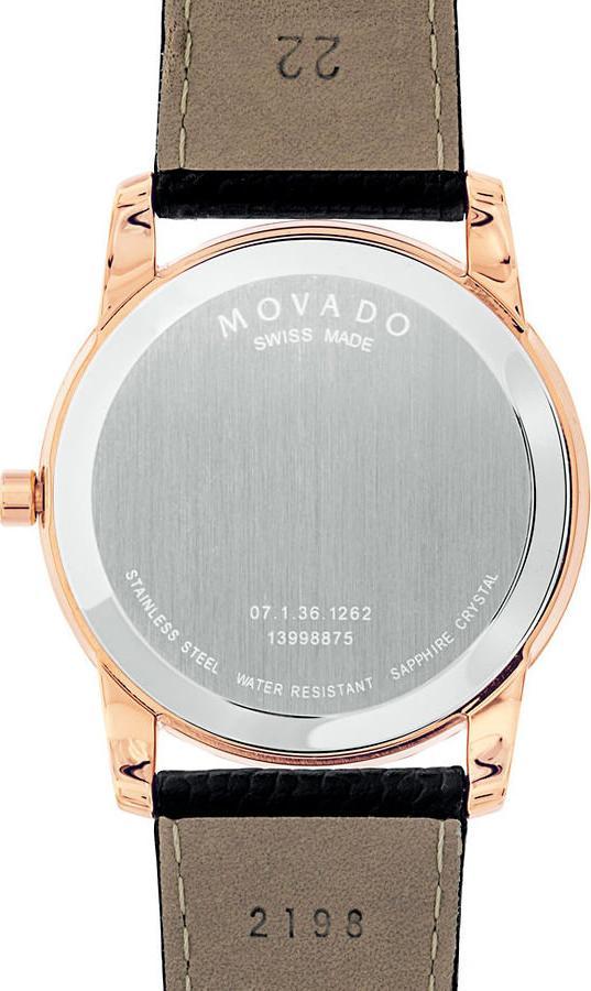Đồng Hồ Nam Dây Da Movado 0607124 (39.5mm) - Đen