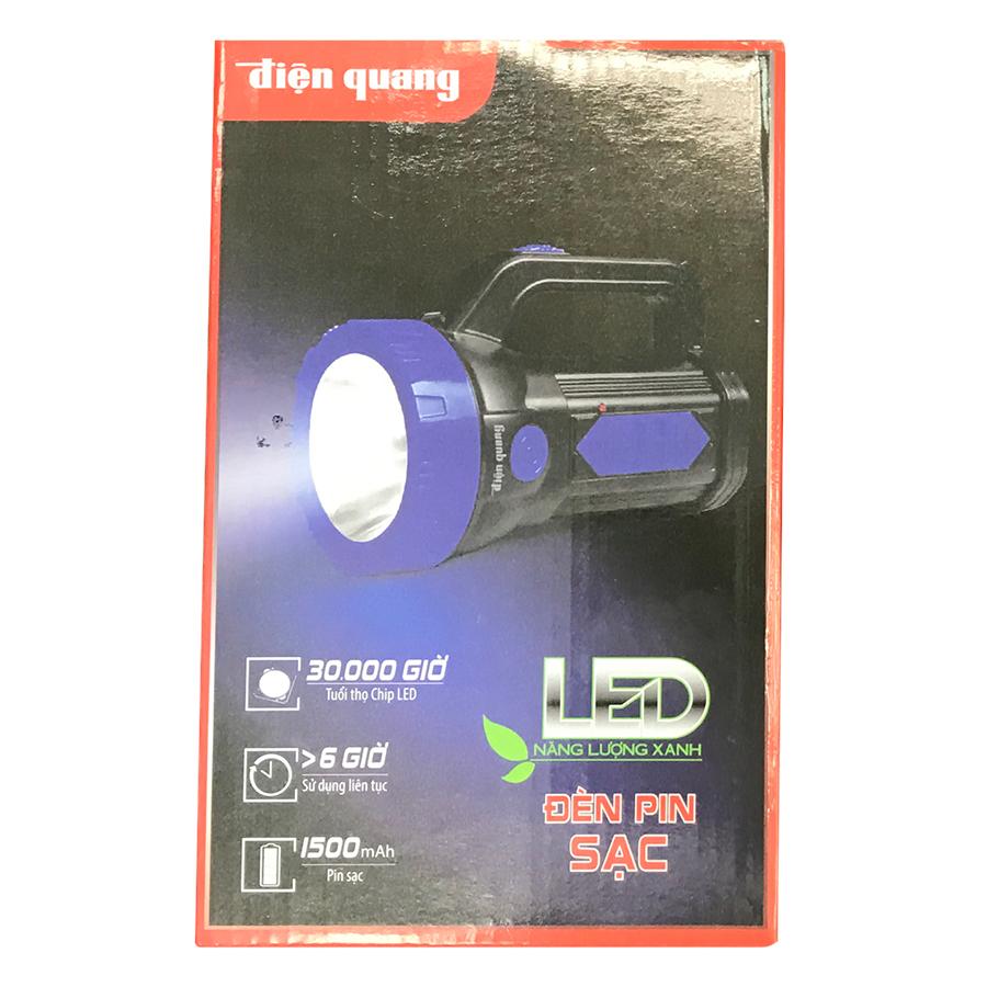 Đèn Pin LED Điện Quang ĐQ PFL09 R BLB (Pin sạc) - Đen Xanh