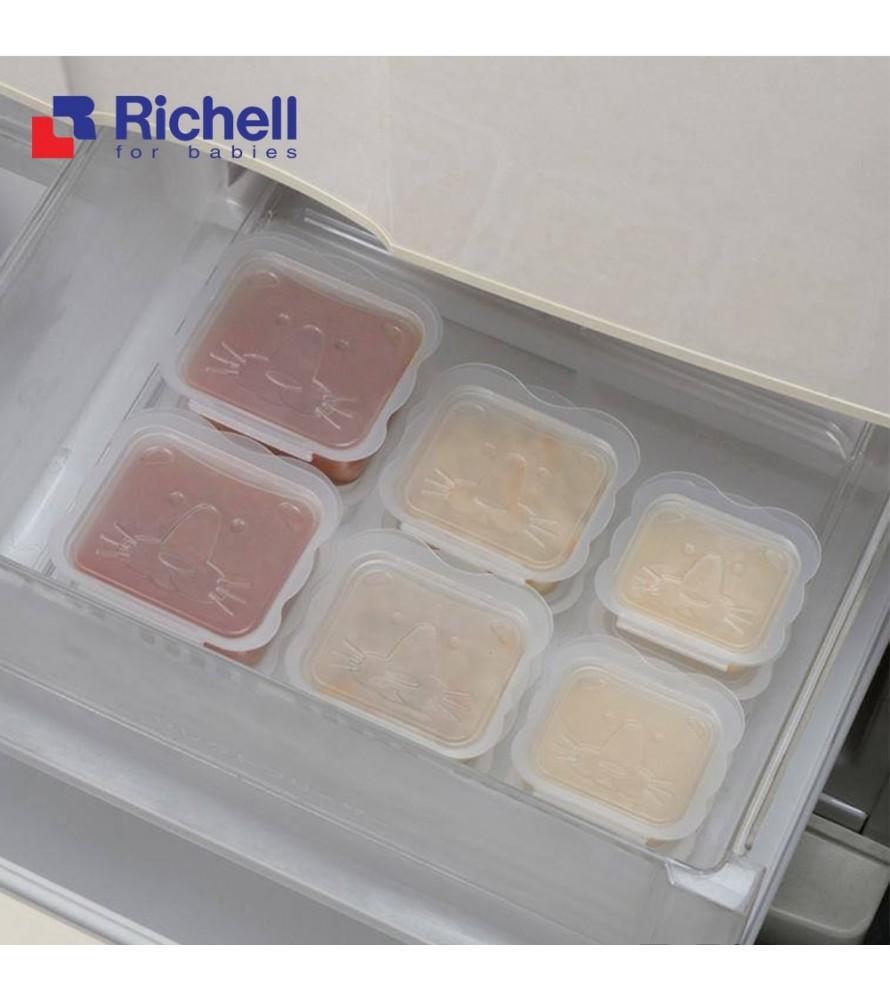 Bộ 8 Hộp Chia Thức Ăn, Khay trữ đông Richell - 100ml