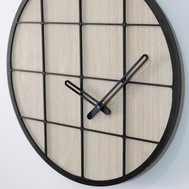 Đồng hồ gỗ treo tường decor nghệ thuật SB026