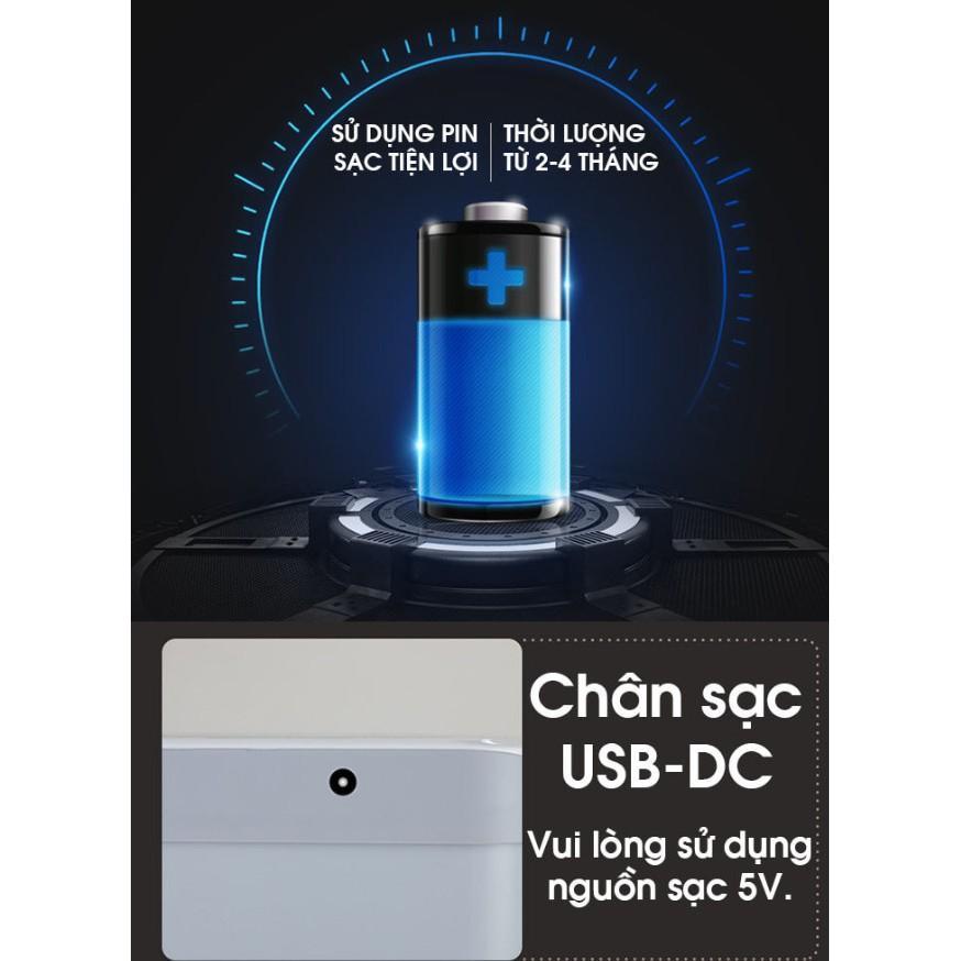 Thùng rác15L  cảm ứng tự động nhà cửa EXPED SMART nguồn điện Nạp sạc